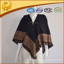 2015 Autumn New Style Fashionable Plaid Weave Stole Shawl Scarf With Tassel