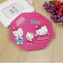 kids cute design octagon octa- eight octagon bulk paper plate