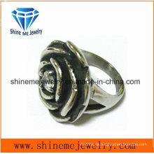 Anillo de fundición de flores de joyería de acero inoxidable de moda SCR2883