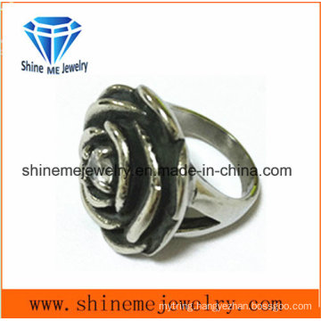 Fashion Stainless Steel Jewelry Flower Casting Ring SCR2883