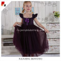 girls dark purple backless easter party dress