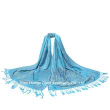 Casaco de xaile de jacquard de moda feminina com borlas