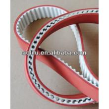 Cinturón industrial abierta con cubierta roja