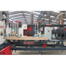 Vertical band saw combine log carriage machine