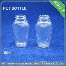 plastic PET Cosmetic Packaging bottle body care special shape plastic bottle
