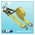 Ratchet Straps with Alumium Handle Ratchet and Double J Hook