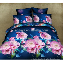 Latest 3D Flower Bed Sheet Designs with Fitted Bed Sheet and Quilt Cover Factory