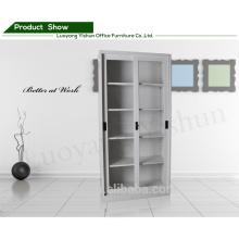 2015 new design sliding glass door filing storage cabinet