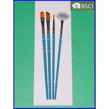 4PCS Wooden Handle Artist Brush Set (AB-078)