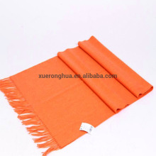 blend 65% lambswool medium plain orange scarf
