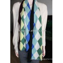 мужской вязаный шарф кашемира