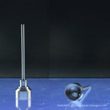 2-Piece Titanium Carb Cap para 14 milímetros 18mm Domeless pregos (ES-TN-006)