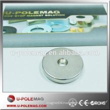 Customized D25xd6x4mm neodymium magnetic countersunk