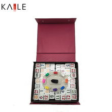 Mexican Train Colorful Dots Double with PVC Box
