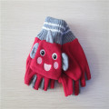 children's cut finger carton fleece gloves