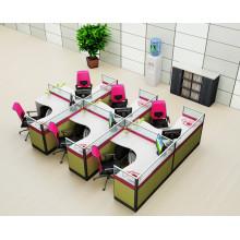 Oficina de partición de oficina al por mayor para estación de trabajo de 6 puestos de trabajo de oficina (HF-YZQ516)