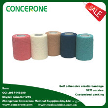 Non-Woven Self-Adhesive Elastic Bandage for Legs and Arms, Surginet Elastic Bandage, Brown Elastic Bandage Cotton