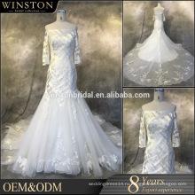 Популярные продажи иллюзия рукава свадебные платья