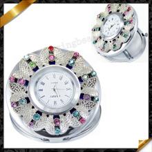 Espejos cosméticos, relojes al por mayor del regalo, espejo de cristal (MW005)