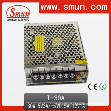 30W Triple Output Switching Power Supply 5V12V-5V