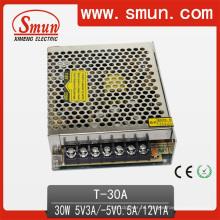 30 Вт тройной выход Импульсный источник питания 5V12V-5В