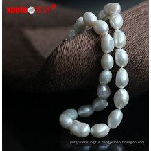 Wholesale White Big Baroque Cultured Pearl Necklaces (E130128)