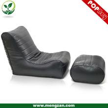 Классический пуховый кожаный боксер для отдыха с глубокой вышивкой, Диван-лежак для гостиной из натуральной кожи с подставкой для ног
