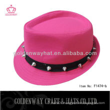 fedora hat for girls beautiful with rivet fashion new design for party
