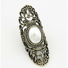 Statement Carve Hollow Out Alloy Finger Rings Jewelry FR106