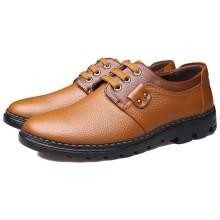 Sapato de couro genuíno dos homens SD00075 com sola de couro
