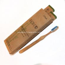 FSC Brosse à dents en fibre de bambou naturel écologique