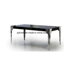 Casa de estilo neoclásico muebles alta brillante madera mesa de comedor (LS-215)