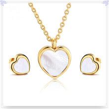 Jóia da pérola jóias de moda conjunto de jóias de aço inoxidável (js0206)