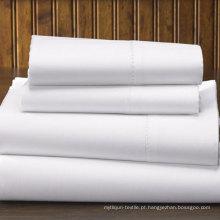 Folha 100% lisa do hotel do weave liso do algodão 300tc (DPFB8008)
