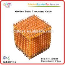 Montessori Material Spielzeug Golden Bead Tausend Würfel