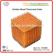 Montessori material juguetes Golden Bead Thousand Cube