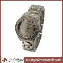 Luxury Generous Ladies Real Gold Diamond Alloy Watches for Women