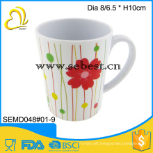 wholesale melamine mug plastic drinking cup with handle