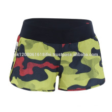 Military camo design print on crossfit gym exercise shorts women and girls