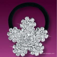 Мода металлический посеребренный кристалл снежинка лента для волос