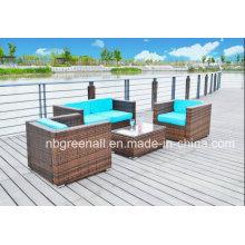 Pátio Outdoor Sofa Conjuntos Rattan / Mobiliário de Jardim