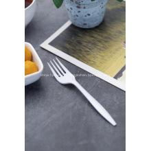 Tenedores de cubiertos de plástico blanco de venta caliente
