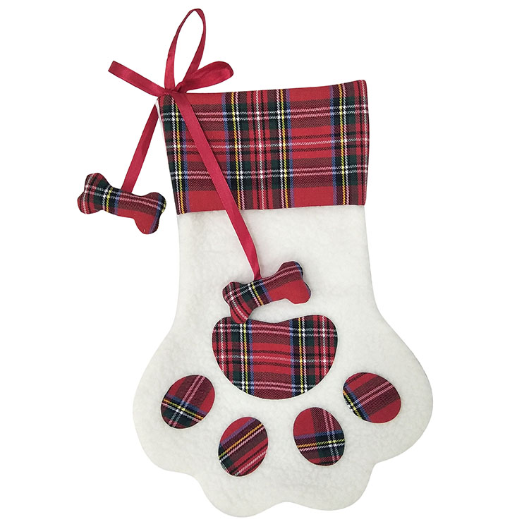 Dog Paw Christmas Stocking