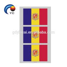 Yincai banderas nacionales en forma de corazón etiqueta engomada temporal del tatuaje de la cara de alta calidad