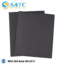 Papier de sable noir imperméable de prix d'usine avec le certificat de MPA