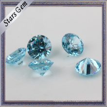 Light Aqua Blue Twinkling Brilliant Cut Cubic Zirconia CZ Piedras preciosas