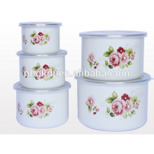high ice bowl & enamel coating sets enamel storage bowl set