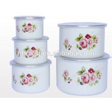 alta tigela de gelo e revestimento de esmalte conjuntos esmalte conjunto de tigela de armazenamento