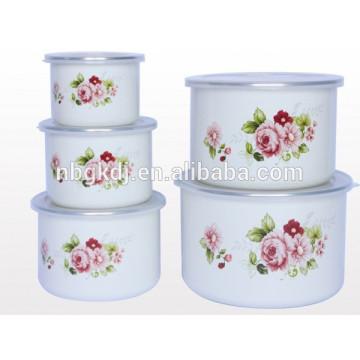 high ice bowl & enamel coating sets enamel storage bowl set