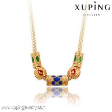 42901 Xuping perles bijoux mode vente chaude 18 k délicat luxe alliage de cuivre collier de bijoux